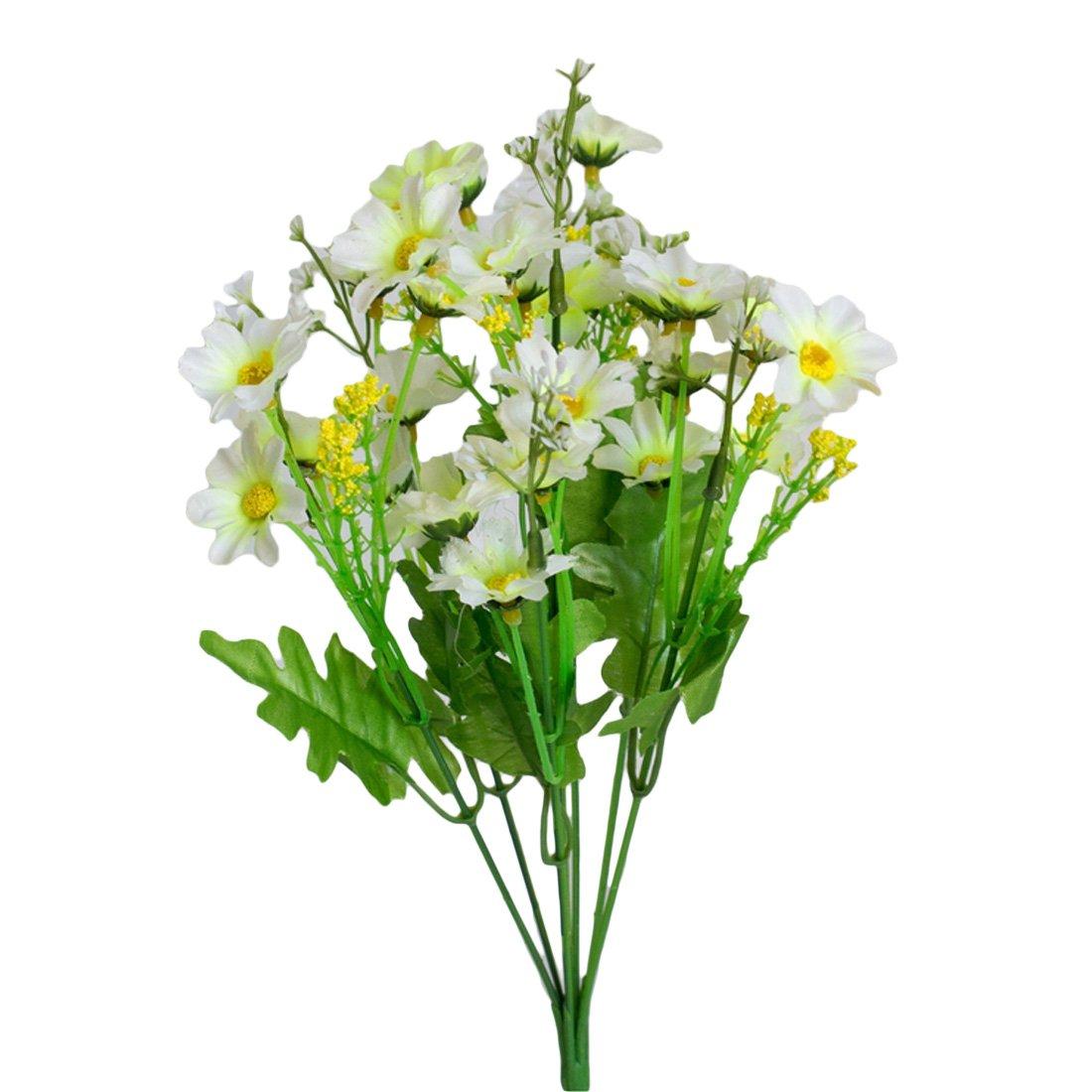 Luwu-Store Silk Artificial Flowers 28 Heads Fake Daisy Flower For Wedding Home Decoration Blue