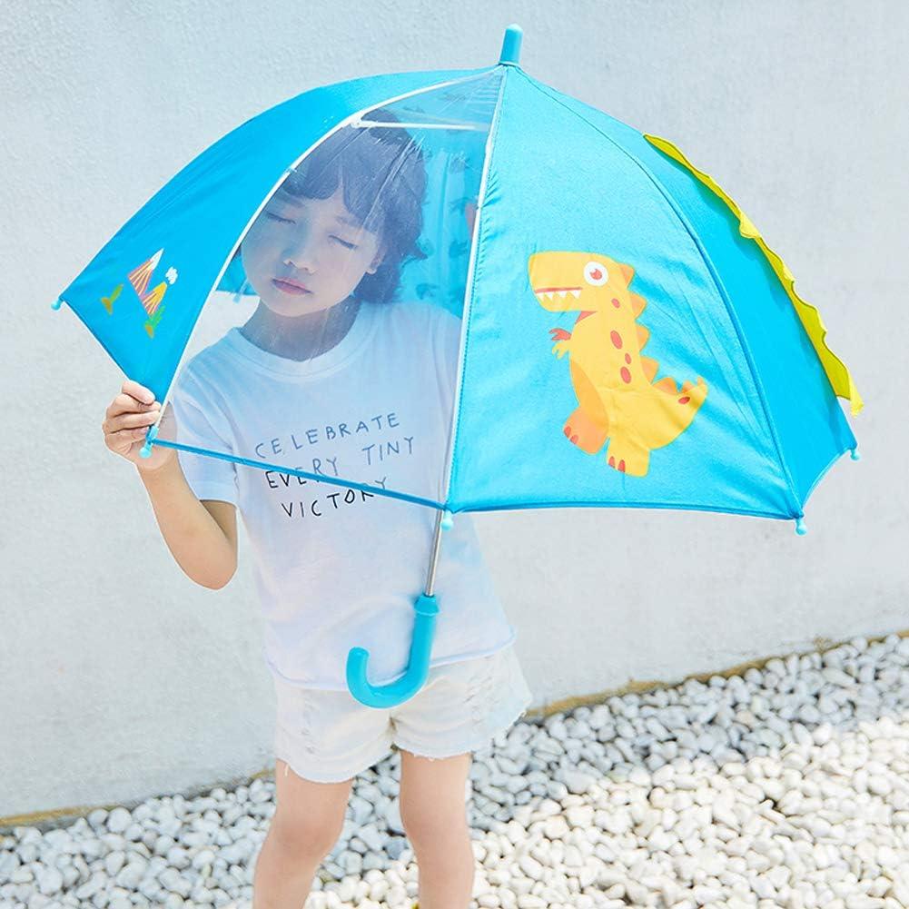 Coupe-Vent et r/ésistant /à l/'Eau Ouverture de s/écurit/é en Fibre de Verre de 1 /à 5 Ans diam/ètre 73 cm Bleu Bleu 60 * 7cm Capmesso Parapluie d/ôme 3D pour Enfant avec poign/ée 8 Baleines