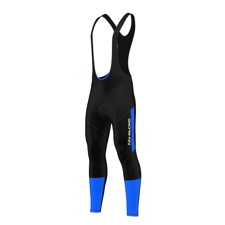 FDX - Salopette per ciclismo da uomo, con pettorina, termica e imbottita in gel, per l'inverno per l'inverno FDX-1220-40