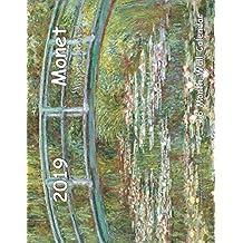 Monet Impressionist 16 Month Wall Calendar 2019
