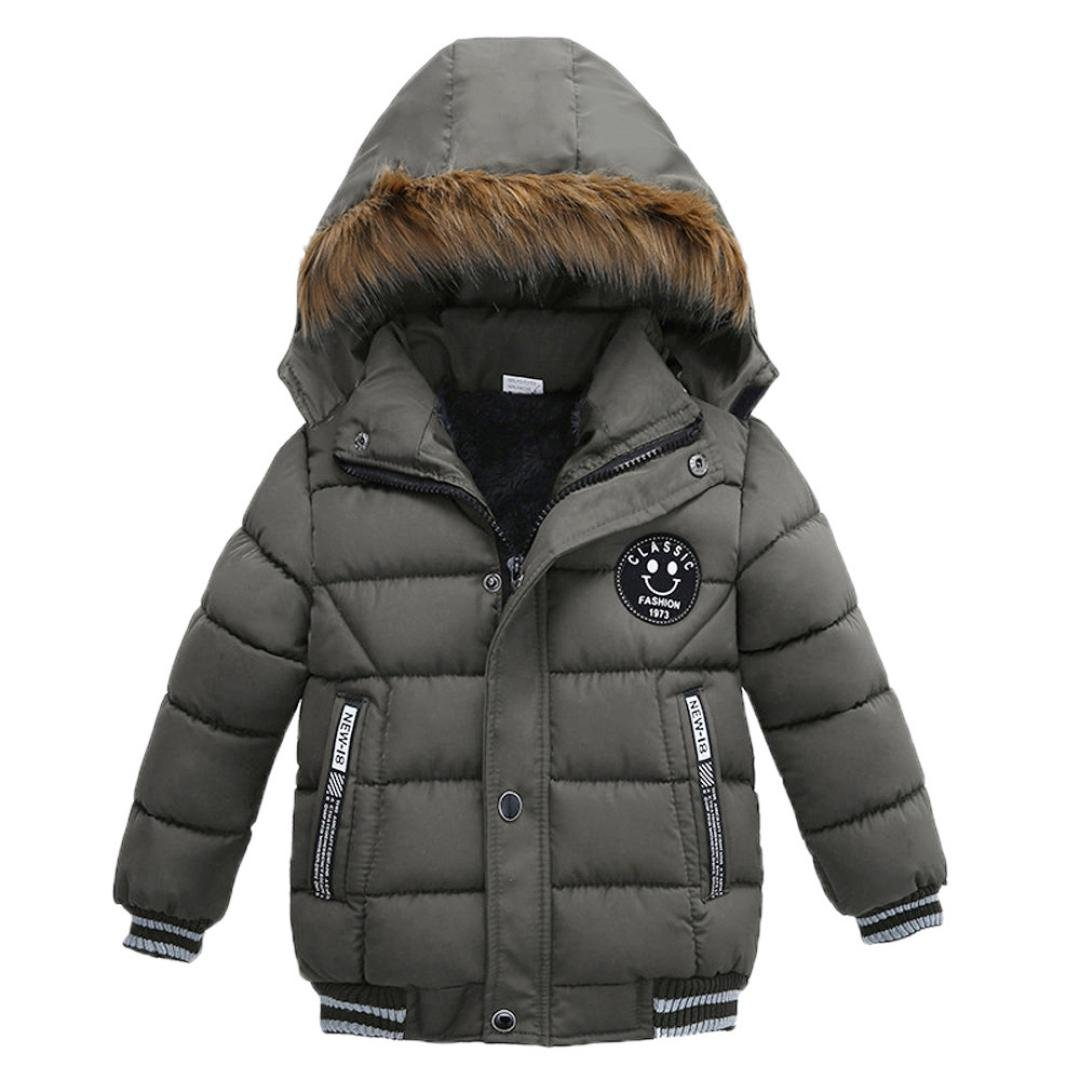 Sunbona Toddler Baby Boys Autumn Winter Down Jacket Coat Warm Padded Thick Outerwear Clothes (4T(2.5~3.5years), Gray) by Sunbona