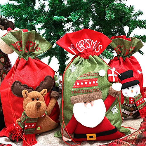 Personalized Santa Sacks, 3 Pack