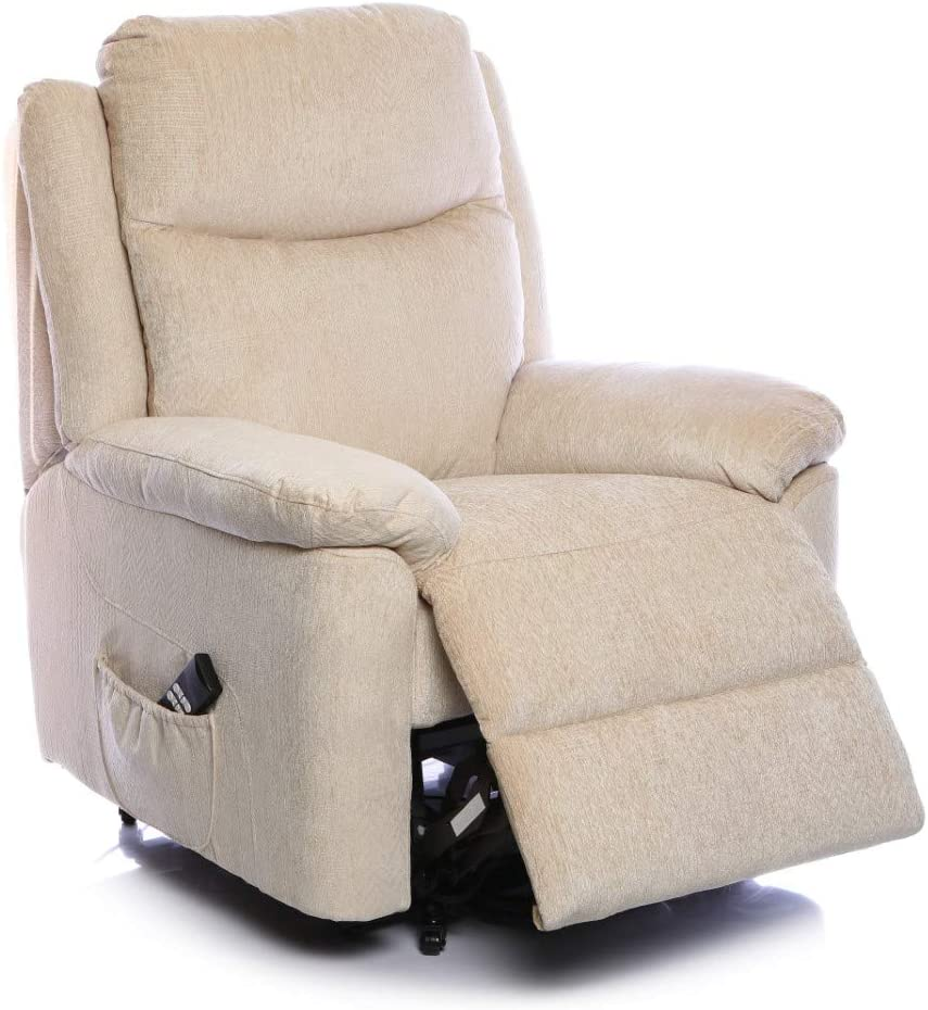 BetterLife The Evesham Mobility Riser Recliner Arm Chair In Choice of 3 Fabrics (Cream)