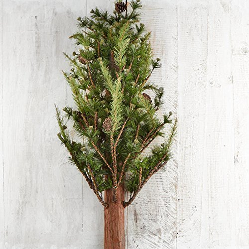 Factory Direct Craft Artificial Wall Mounted Pine Tree with Pinecone Accents for Holiday Decor