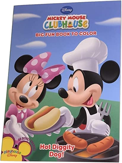 - Amazon.com: Dalmatian Press Disney Mickey Mouse Clubhouse Big Fun Book To  Color ~ Hot Diggity Dog! (96 Pages; Coloring And Activity Book): Toys &  Games