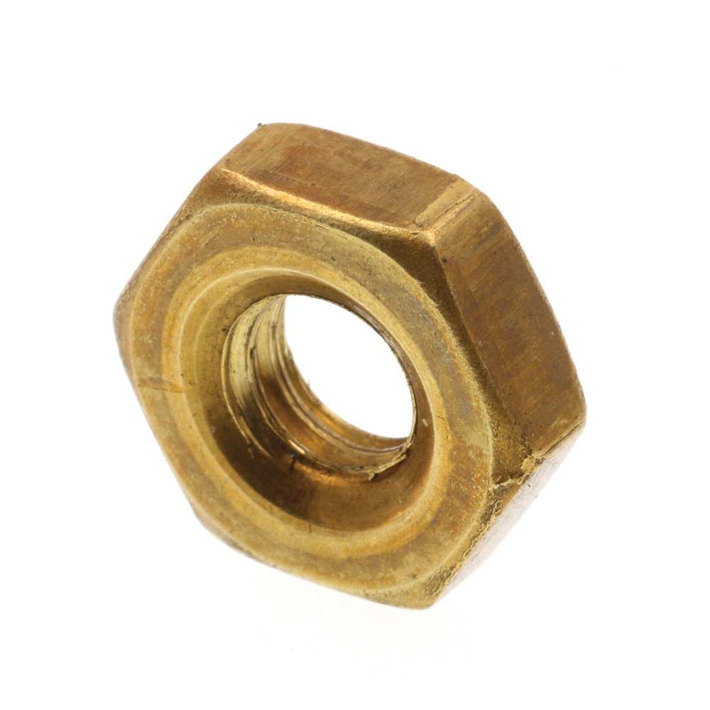 #10-32 50-Pack Solid Brass Prime-Line 9074192 Machine Screw Hex Nuts
