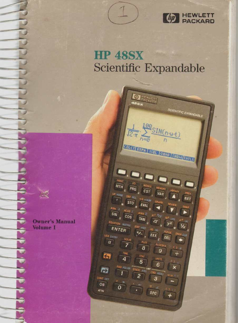 hp 48sx scientific expandable calculator owner s manual volume i rh amazon com hp 48sx user guide hp 48sx user manual download