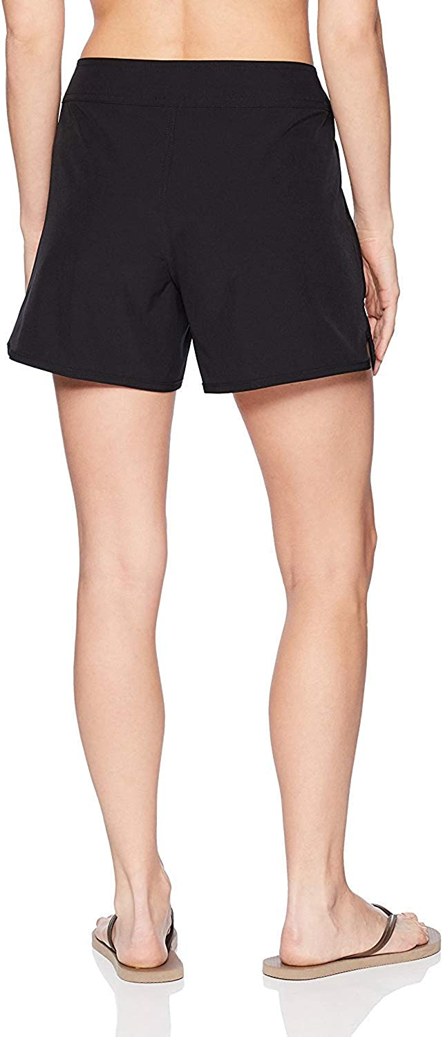Nautica Womens Solid 4 1//2 Core Stretch Boardshort with Adjustable Waistband Cord