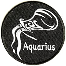 Aquarius Embroidered Iron-On Patch Zodiac Sign - 3 inch