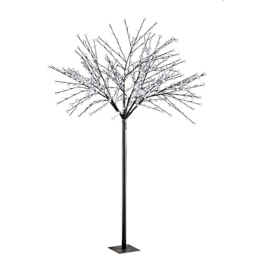 Außen 600x LED Deko Baum Steh Leuchte XMAS Weihnachts Beleuchtung schwarz Blüten Leuchtbaum Leuchten Direkt 86130-18
