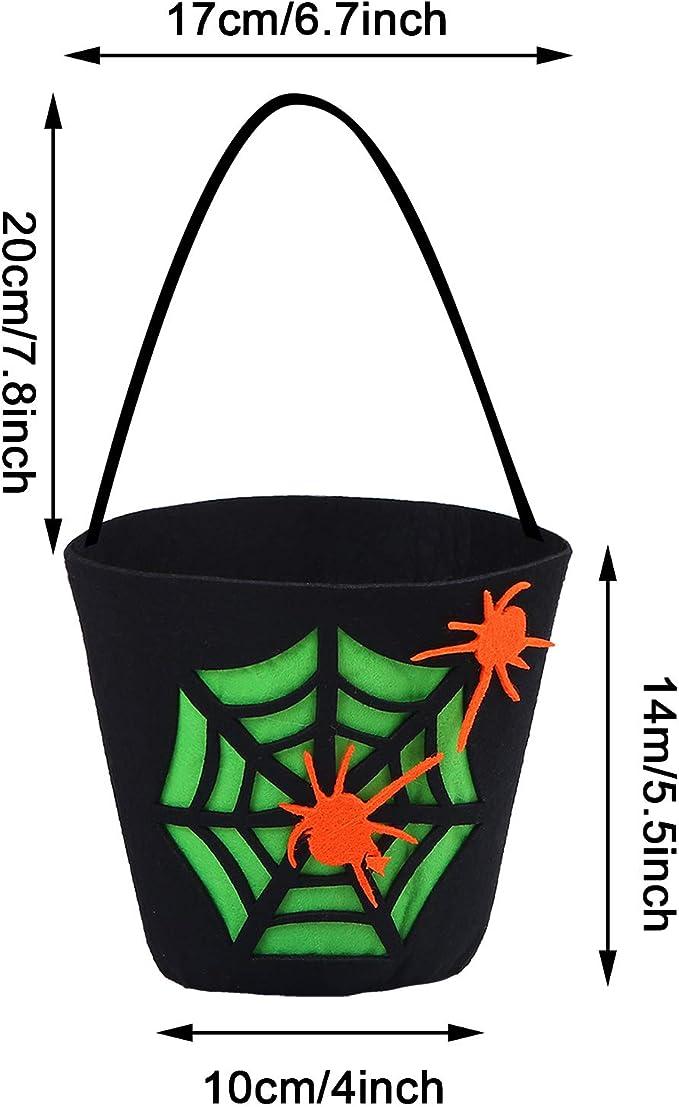 4 Piezas Bolsa Dulces Halloween para la Decoraci/ón la Colecci/ón Regalos la Fiesta Halloween para Ni/ños Bolso Tote Caramelo Halloween fiesta Bolsas de Caramelo