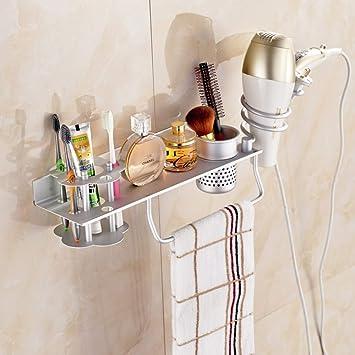 WEMUR Espacio Aluminio secador de pelo estante para baño ...