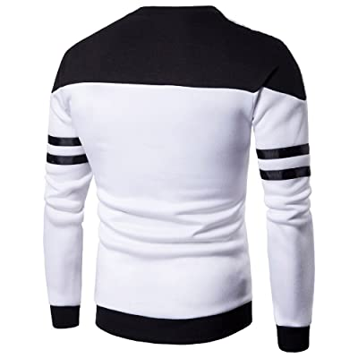 WINJUD Men's Sweatshirts Long Sleeve Shirts Pullover Top Sweaters Tee Patchwork Outwear Blouse(,): Clothing