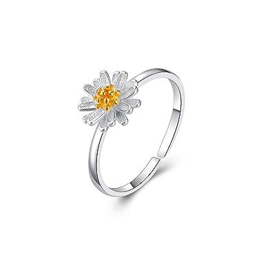 7e4b7f5f14f FHX Online Celebrity Brief Daisy 925 Sterling Silver Ring Lady Small ...