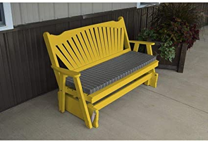 Amazon.com: A & L Muebles Co. Amarillo Pino 4 fanback ...