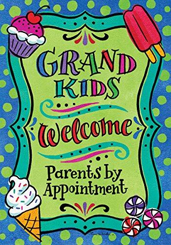 Grandkids Welcome - Garden Size, 12 Inch X 18 Inch, Decorati