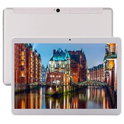 Android 9.0 Tablet 10 Pulgadas(Google WIFI, 6 GB RAM, 64 GB de Memoria Interna, Deca-core 1920x1200 IPS HD,4G Lte Dual SIM Dual Cameras, Bluetooth, ...