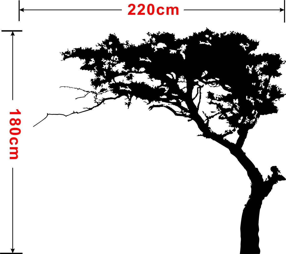 Rocwart Tree Wandaufkleber Schwarz Kiefernholz f/ür Wohnzimmer Kids Baby Kinderzimmer Wandtattoo Dekoration wiederabl/ösbar Vinyl Family Tree Art Wand Aufkleber 221/x 180,3/cm Schwarz