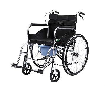 Wheelchairs Múltiples Funciones De Transporte De Sillas De Ruedas, Inodoro De Cabecera Y La Silla De Transferencia Silla De Transporte Comoda-hasta 300Lbs: ...
