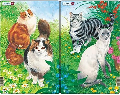 Larsen H17 - Puzzle (2 x 10 Piezas), diseño de Gatos: Amazon ...