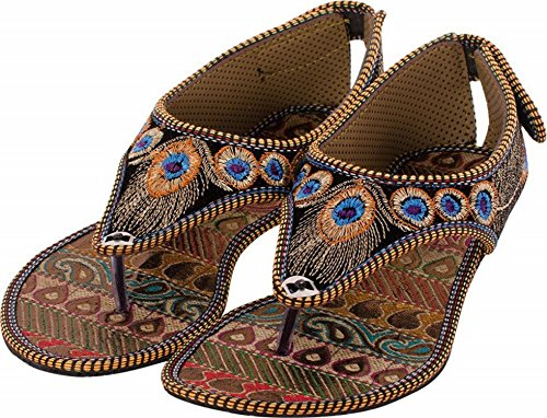 Collection of amp; Footwear 2 Ethnic Indian Choice Combo Red Peacock Sandal Black Sfnwq4g5x1