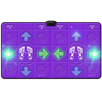 Dance mat Quality, Double Adult, Hand Dance, Somatosensory Game Console, Running Yoga, Home TV and Computer Dual-use -2020 (Color : Gray): Home & Kitchen