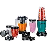 Mr. Magic Smoothie Mixer, Standmixer Smoothie Maker mit 9 Funktionen, TO GO-Funktion mit Smoothie Flasche & Umfangreiches Zubehör [ 400W POWER ]