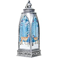 Rajendram Christmas Light Decor,LED Light Christmas Lantern,Holiday Table Ornament Lamp,Home Bar Store X'Mas Decor for Carnival,Christmas,Easter,New Year's Eve Party,Halloween