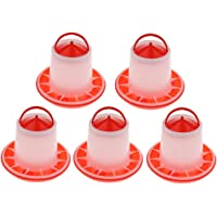 MagiDeal 5X 2kg Automatic PP Food Fodder Feeder Chicken Chick Hen Poultry Feed