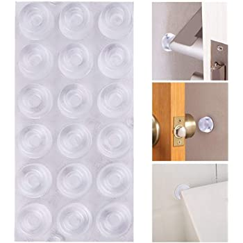 Amazon Com Rubber Door Stopper Bumpers Pack Of 4 Clear