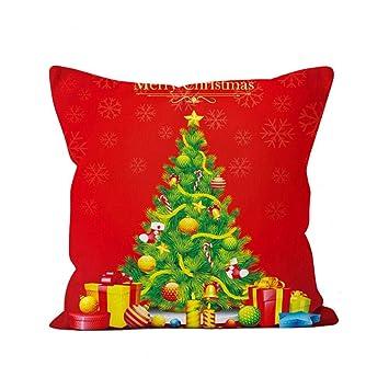 Fundas de almohadas de tiro, patrón de Navidad Ciervos Árbol de ...