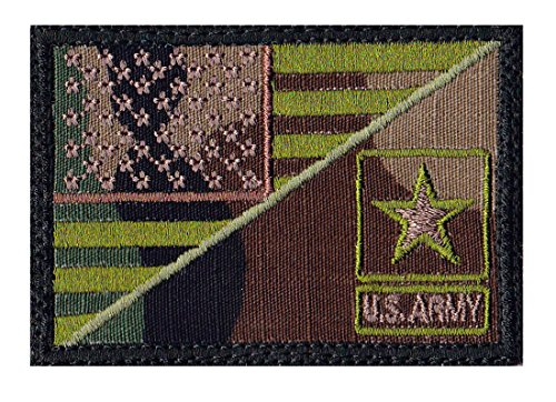 Us Army Star Half Flag Tactical Morale Hook Side Patch