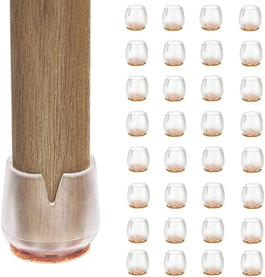 Protectores para Patas Redondas de 25 a 29 mm Tapas de Silicona para Patas de Silla 4 Unidades
