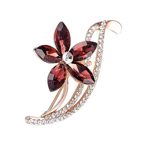 La Cabina Bijoux Fantaisie Cristal Strass Broche Echarpe Broche Décoré Vêtement et Festival Bijoux Multi -Style Animaux et Fleur Accessoire du Vêtement