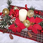 26-Pcs-Assorted-Artificial-Winter-Christmas-Table-Decorations-Set-Table-Scatter-Vase-Bowl-Fillers-Golden-Glitter-Apples-Pears-Mini-Pine-Cones-Poinsettia-Flower-Heads-Plastic-Snowflakes-Red-Berry-Pic