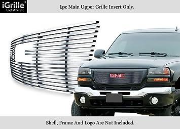 Fits 03-06 GMC Sierra 1500//2500HD//3500 Stainless Steel Billet Grille Insert