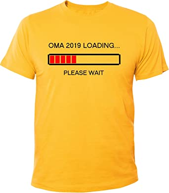 Mister Merchandise Herren Men T-Shirt Oma 2019 Loading Omi Großmutter Tee  Shirt Bedruckt Gelb