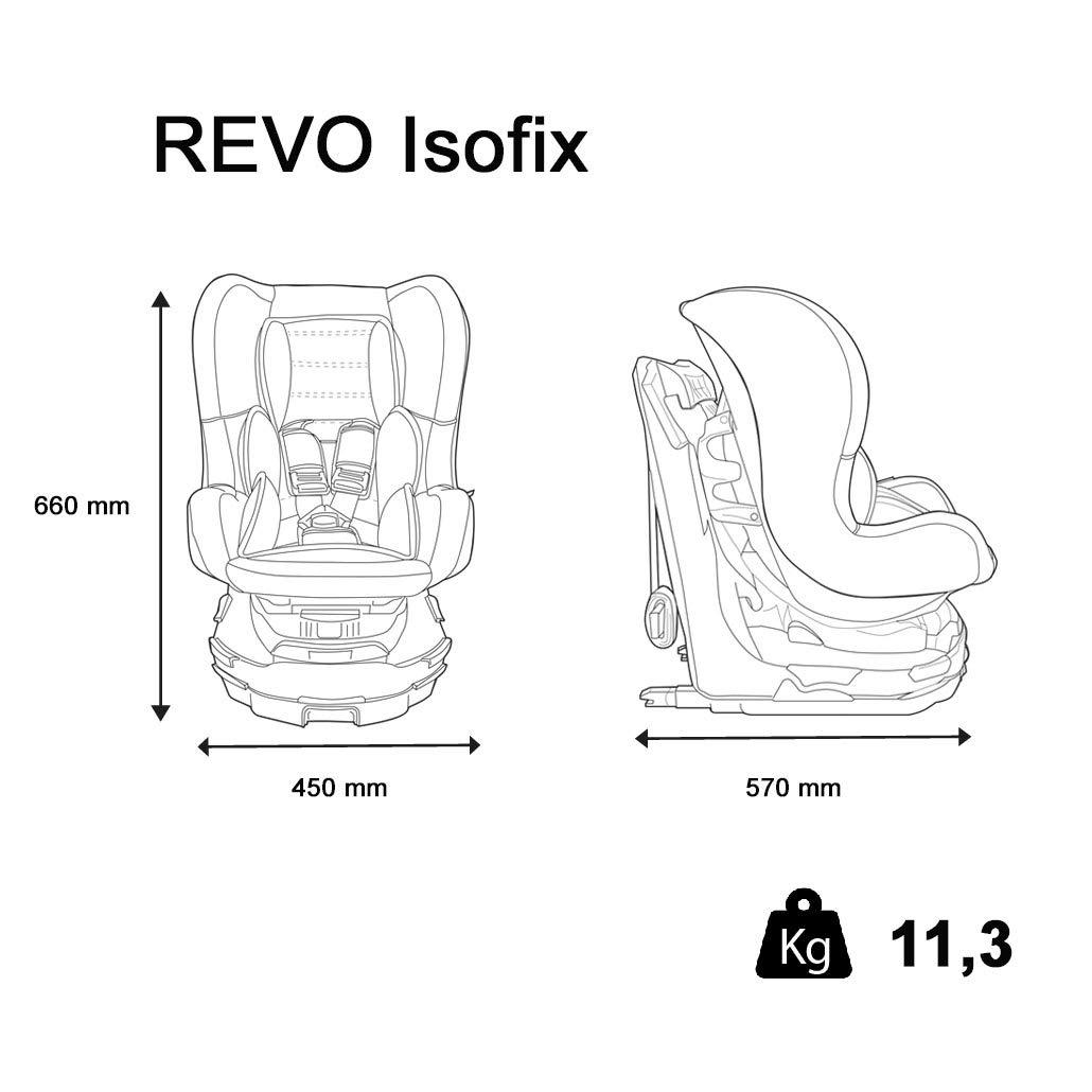 gris pivotant 360/° Si/ège auto REVO ISOFIX