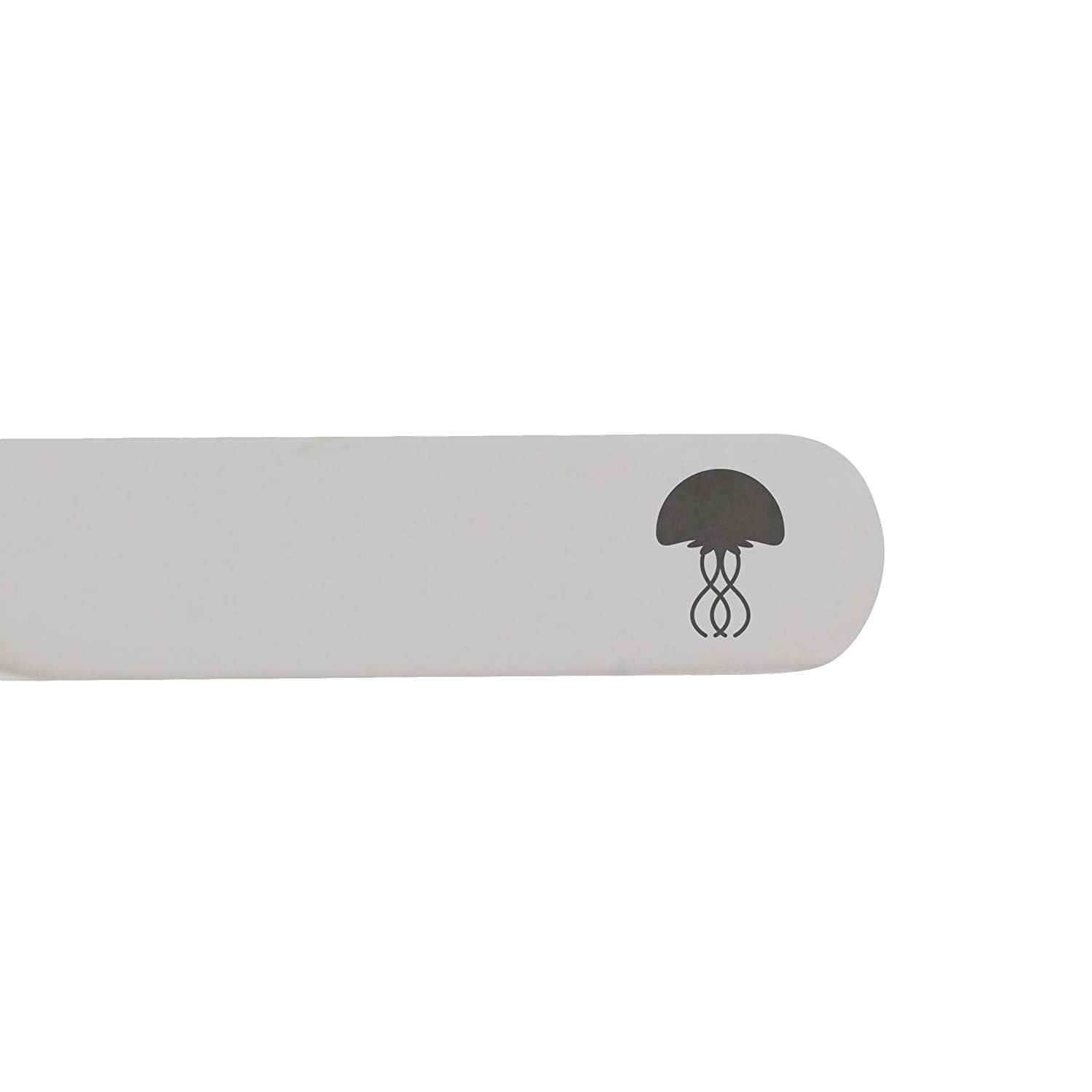 MODERN GOODS SHOP Stainless Steel Collar Stays With Laser Engraved Jellyfish Design Made In USA 2.5 Inch Metal Collar Stiffeners