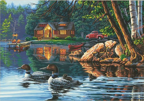 Dimensions Echo Bay Ducks Paint by Numbers for Adults, 20'' W x 14'' L