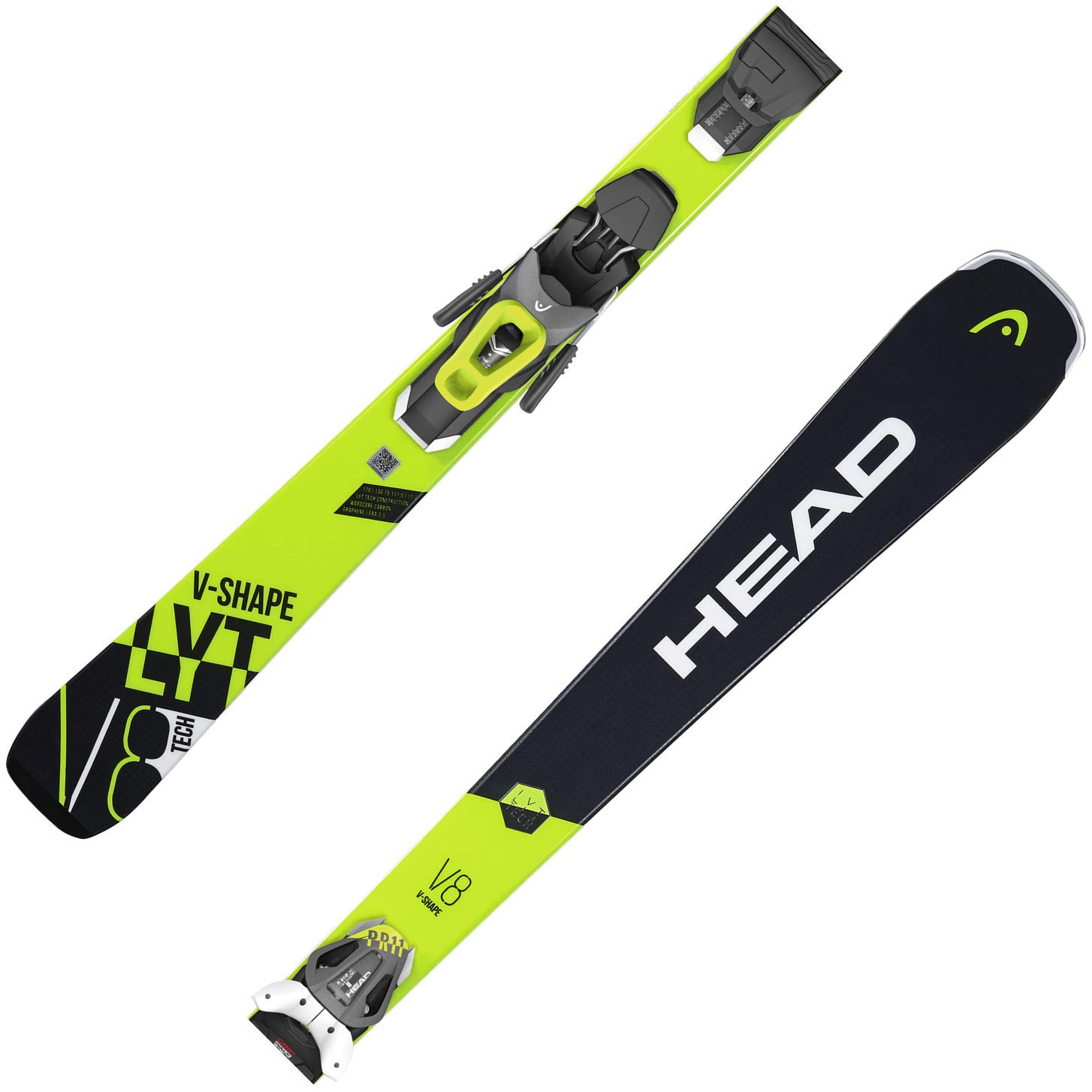 HEAD V-Shape V8 SW LYT-PR Ski 2019 inkl. PR 11 GW Brake 85 Anthracite/Matte White/Flash Yellow