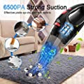 Simonseason Handheld Vacuum Cleaner 6.5KPA Cordless Car Vacuum Cleaner Portable&Lightweight Small Hand Held Vacuum Cleaner Rechargeable Hand Vac with LED Light for Home Pets Hair Cleaning Wet&Dry Use