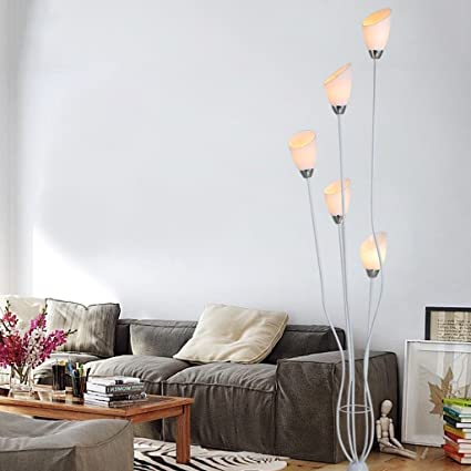 Amazon.com: WAN SAN QIAN- Simple LED Floor Lamp Bedroom ...