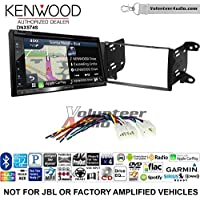 Volunteer Audio Kenwood DNX574S Double Din Radio Install Kit with GPS Navigation Apple CarPlay Android Auto Fits 2011-2013 Non Amplified Toyota Matrix