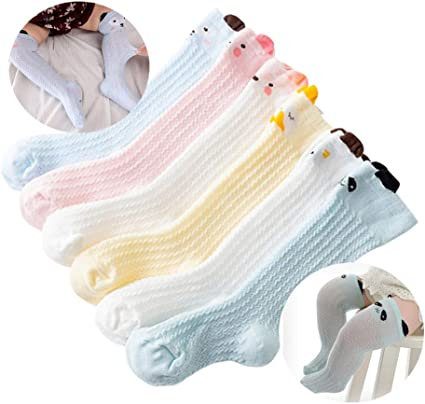HNQH Baby Girls Sock-Thicken Cotton Socks Cute Baby Knee Socks with Bowknot Warm Winter Socks Princess Cotton Knitted Stocking 0-4 Year