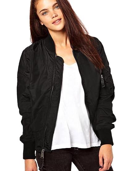 Youyi Yiyou Womens Classic Short Padded Bomber Jacket Coat Quilted