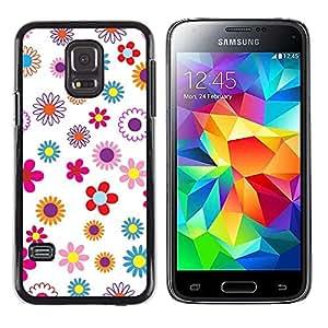 TECHCASE**Cubierta de la caja de protección la piel dura para el ** Samsung Galaxy S5 Mini, SM-G800, NOT S5 REGULAR! ** Wallpaper Floral Pattern Colorful Spring Blossoming