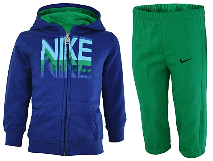 Nike Kids Tracksuit Baby Boys Tracksuit Jogging Suit Blue, Sizes:6 - 9 M