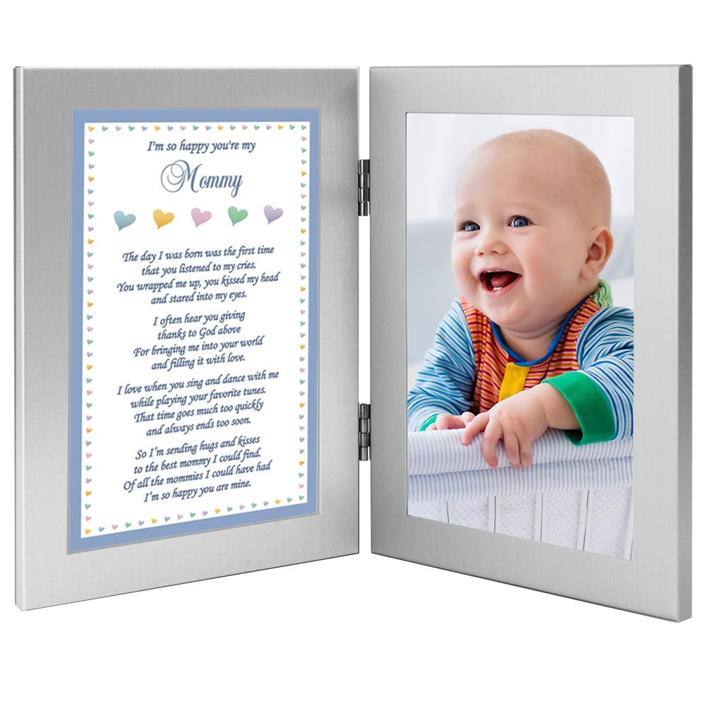 3a1bdd7b2fda2 Amazon.com : Baby Boy Frame for Mommy - Sweet Words for Mom from Son - Add  Photo : Baby