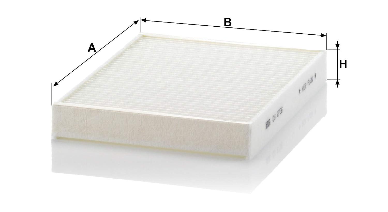 MANN-FILTER Original Filtro de Habit/áculo CU 2736-2 Set de filtro de habit/áculo Para autom/óviles 2 piezas
